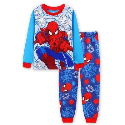 2018 spiderman children clothing  kids clothes pajamas sets