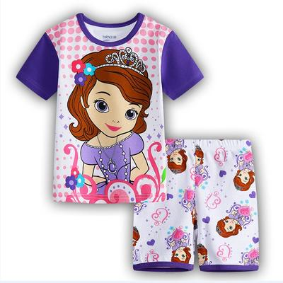 Girls Sofia Short Sleeve Sleepwear Nightgown Loungewear Pajamas Set