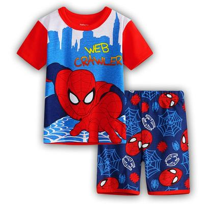 Spideman Summer Short Sleeve Kids boys Cartoon Casual pajamas