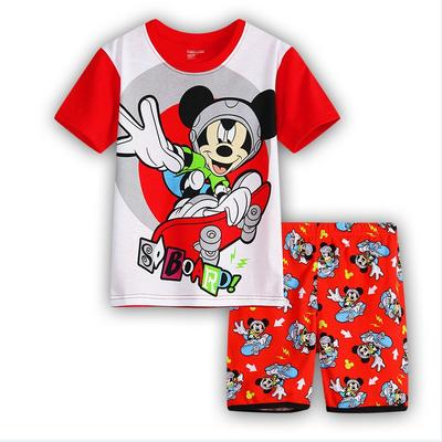 Cartoon Kids Child Baby Boy Summer Short Sleeve Nightgown Sleepwear Pajamas Set