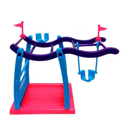 Plastic Jungle Gym Playset Swing Stand For Finger Baby Interactive Monkey Toy  fingerling wholesale